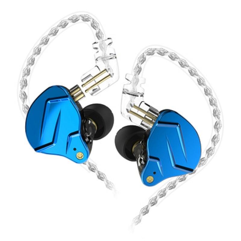Наушники-вкладыши KZ ZSN Pro с монитором, металлические гибридные Hi-Fi наушники с басами, Спортивная гарнитура с шумоподавлением, ZSX