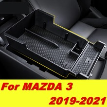 Caixa de armazenamento para mazda3 mazda 3 2019 2020, acessório central de armazenamento para braço