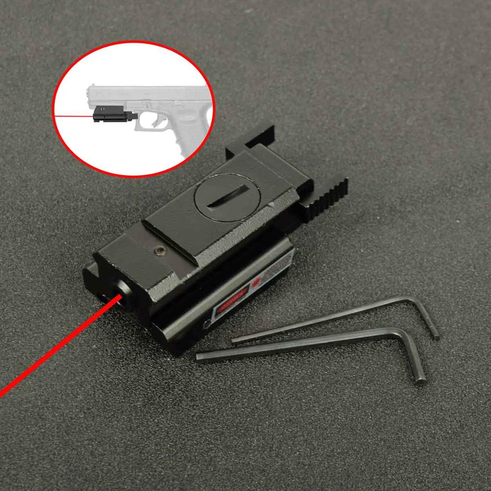 Tactical Compact pistol Low Profile Red Dot Laser Sight Scope with 20mm rail For Headgun Glock 17 19 20 21 22 23 30 31 32