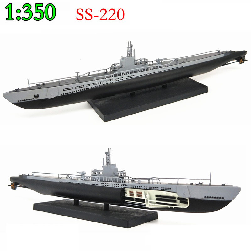 1:350 1944  World War II U.S. Navy  Barb Submarine  Warship Model  Alloy  Die-casting  Collection Model