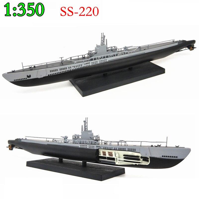 1:350 1944  World War II U.S. Navy  Barb Submarine  Warship Model  Alloy  Die-casting  Collection Model