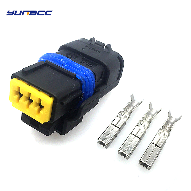 1 Set 3 Pin/way Female Waterproof Auto Electrical Terminal Connector FCI 211Pc032S0049 Car Plastic Housing Plug 211 Pc032S0049