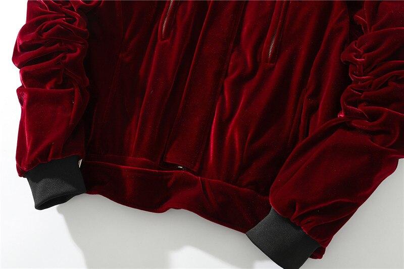 Automne hiver hommes épais chaud en vrac velours flanelle bomber veste Streetwear haute qualité homme surdimensionné décontracté manteaux pour vêtements de dessus - 5