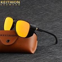 KEITHION Women Retro Shades Fashion Side Shields Style Square Sun glasses Men Driving Steampunk Goggles Sunglasses