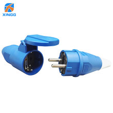16A 2 Pin Waterproof Outlet Socket Male Female Electrical Connector Power Connecting Industrial Plug Socket