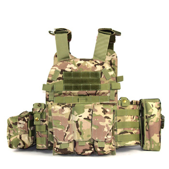 Tactical Airsoft Military Vest Molle Pouch Multicam Body Armor Plate Carrier Ammo Magazine Chest Rig Assault Hunting Combat Gear