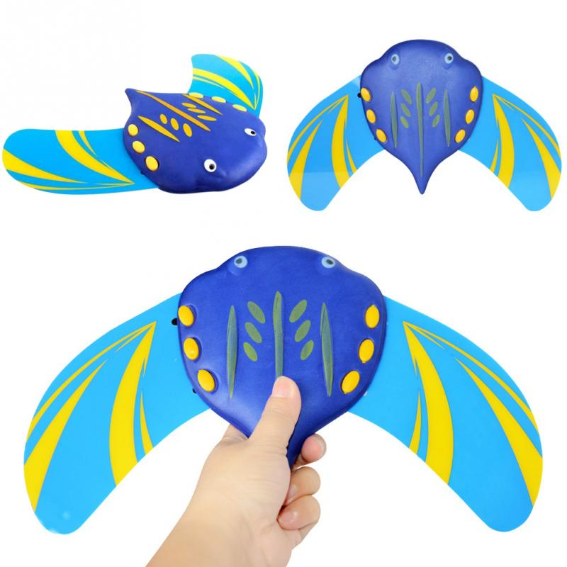 Outdoor Summer Self Propelled Devil Fish Funny Underwater Glider Kids Children Bath Diving Swimming Beach Toy Adjustable Fins