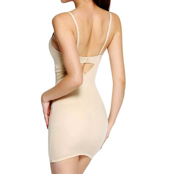 Twinso Full Body Shapers Women Party Bodysuit Deep V Underwear Slip Skirt Shapewear Waist Trainer Sexy Bra Briefer Dress Corset 1
