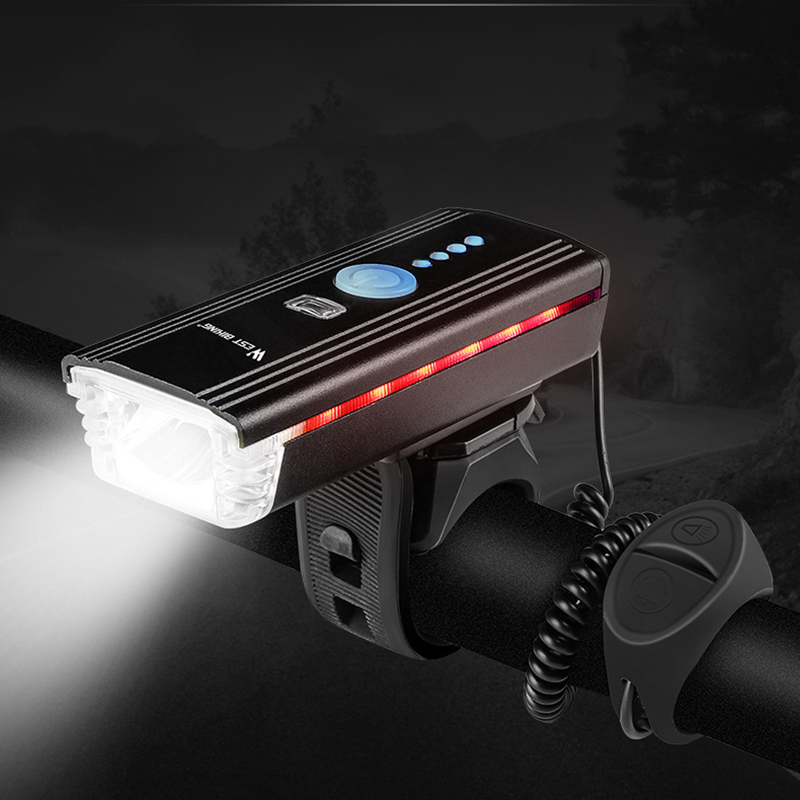 Bicycle Bike Light USB Headlight Scooter Front Smart Ebike Horn Bicycle Handlebar Speaker With Power Bank And Lights Cycle LED