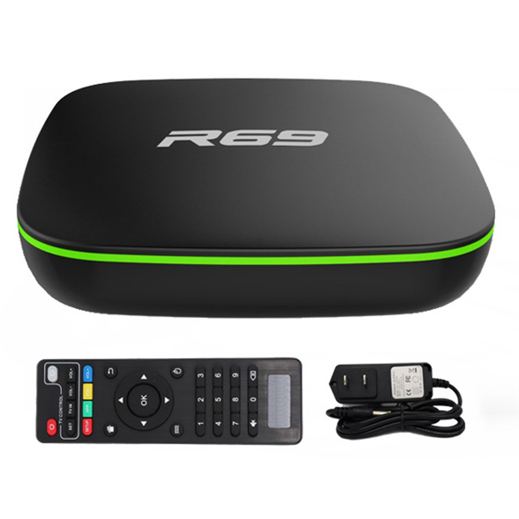 R69 Smart Android 7.1 TV Box 1GB 8GB Allwinner H3 Quad-Core 2.4G Wifi Set Top Box 1080P HD Support 3D Movie Media Player