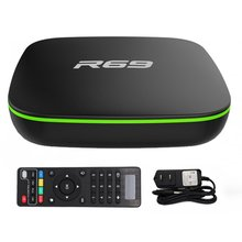 лучшая цена R69 Smart Android 7.1 TV Box 1GB 8GB Allwinner H3 Quad-Core 2.4G Wifi Set Top Box 1080P HD Support 3D movie Media player