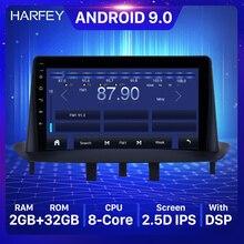 Harfey 9 polegada bluetooth gps navegação rádio do carro android 9.0 hd touchscreen para renault megane 3 2009 2014 carplay apoio swc