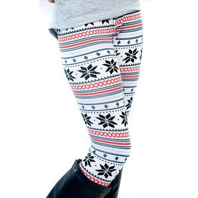 2020 New Women's Autumn Leggings Girl Winter Legging Bottoms Snowflake Christmas Deer Print Leggings Women Clothing Jeggings 3