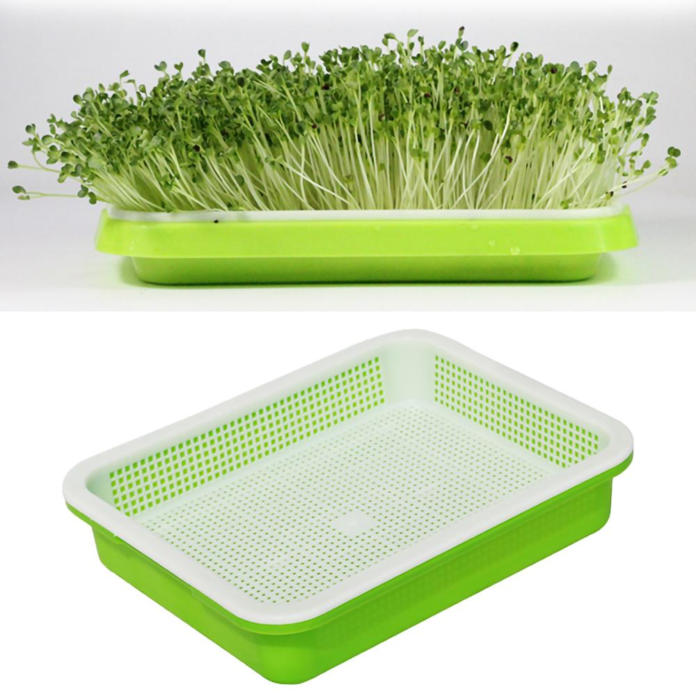 Bean Sprouts Double-layer Dishes Plate Seedling Tray Plastic Hydroponic Flower Basket Flower Plant Home Garden Nursery Pots