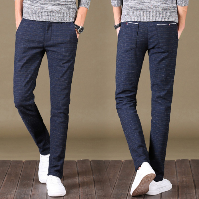 New Style Casual Pants Men's Business Slim Fit Straight-Cut Korean-style Trend Autumn & Winter Loose Elasticity MEN'S Trousers Y