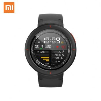 Global version Original for Xiaomi Amazfit Verge Smartwatch 1.3 inch AMOLED Screen Dial & Answer Calls Upgraded HR Sensor GPS english version original xiaomi huami amoled screen heart rate monitor built in nfc smart watch amazfit verge 3