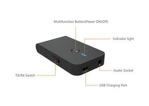 Image 4 - AptX Bluetooth Thiết Bị Thu Phát 2 Trong 1 Không Dây Có Âm Thanh Độ Trễ Thấp 5.0 Dành Cho Xe Hơi Truyền Hình Tai Nghe Loa 3.5MM jack Cắm Aux
