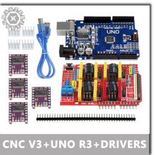 Professional 3D Printer CNC Kit UNO R3 Board+A4988/DRV8825 Motor Drivers 3D printer DIY motherboard laser engraver+CNC Shield v3(China)
