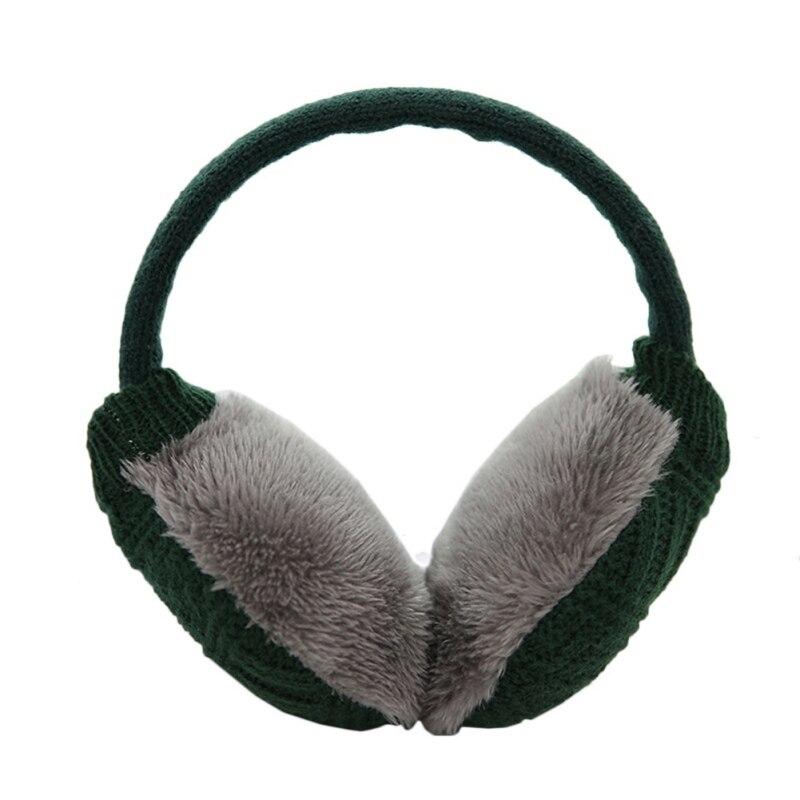 Зимние Наушники унисекс, плотные зимние теплые вязаные наушники для мужчин Wo men s Earflap Earmuffs, съемные плюшевые наушники - Цвет: G