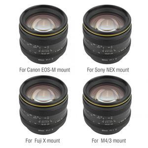 Image 2 - Kamlan 50 مللي متر f1.1II فتحة كبيرة دليل التركيز APS C عدسة عديمة المرآة ل CanonM سوني E فوجي X M43 جبل الكاميرا