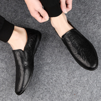 2019 Fashion Driving Shoes Loafers Men Leather Shoes Summer Casual Breathable Business Peas Shoes Zapatillas Hombre HC-030