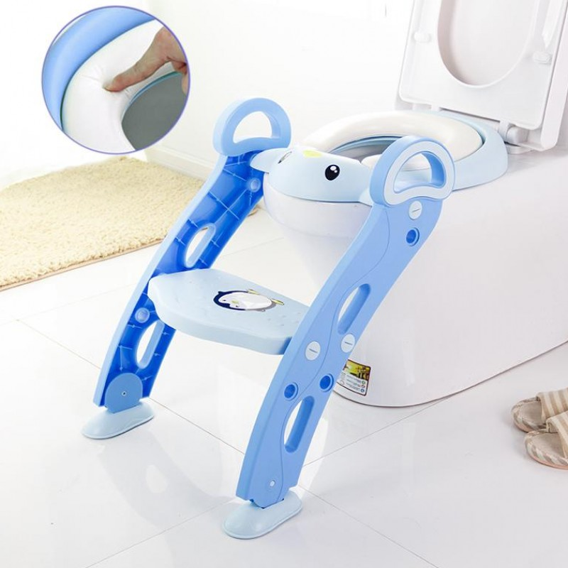 Height Adjustable Baby Children Potty Training Toilet Seat,baby Kids Potty Chair With Ladder Step Stool