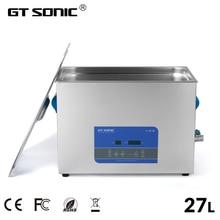 GTSONIC الرقمية بالموجات فوق الصوتية الأنظف حمام 27L 500 واط 99 دقيقة الموقت التدفئة ديغاس مجوهرات نظارات PCB أدوات السيارات الأجزاء المعدنية R27