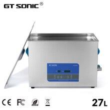 GTSONIC דיגיטלי קולי 27L 500W 99 דקות טיימר חימום דגה תכשיטי משקפיים PCB כלים רכב מתכת חלקים r27