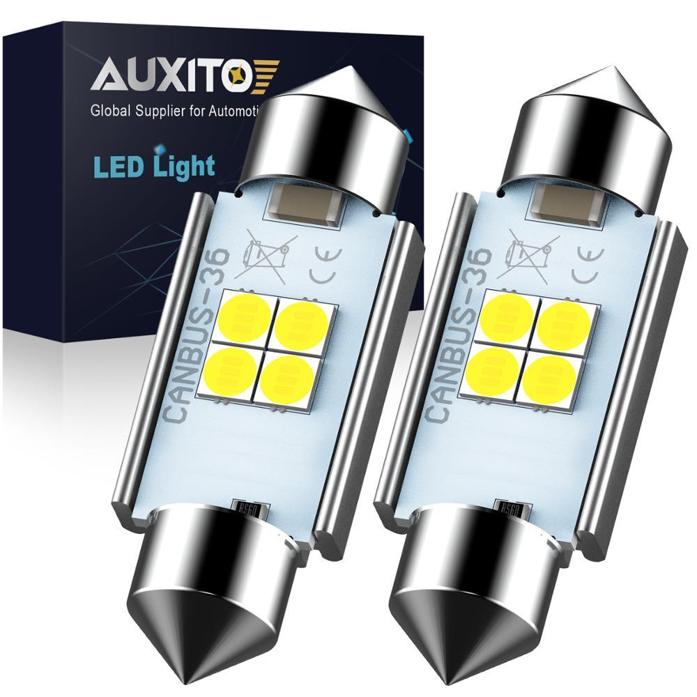 AUXITO высокое качество 31 мм 36 мм 41 мм C5W C10W 3030 светодиодная CANBUS Автомобильная фестона Свет авто Внутренняя купольная лампа для чтения 6000K белый