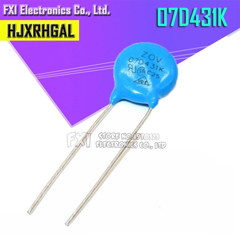 10PCS 07D431K Piezoresistor 7D431K 430V Varistor Resistor