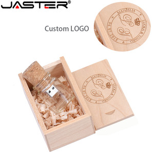 Image 2 - JASTER wooden cork drifting bottle usb2.0  flash drive pendrive 4GB 8GB 16GB 32GB 64GB wishing bottle wedding gift customer LOGO