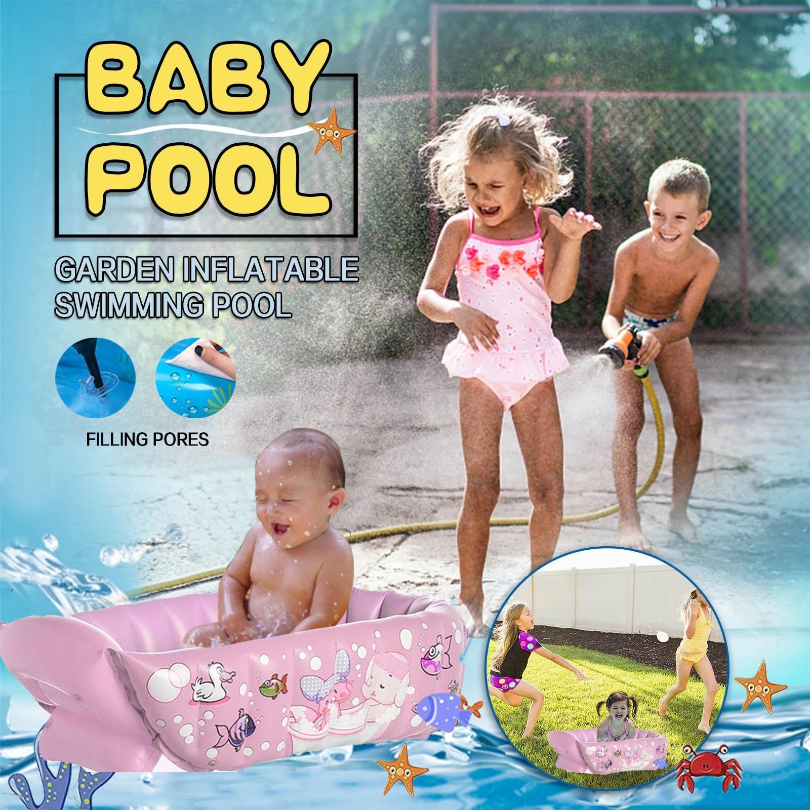 Inflatable Pool Baby Swimming Pool Baby Bath Kids Portable Outdoor Children Basin Bathtub Newborns Swimming Pool
