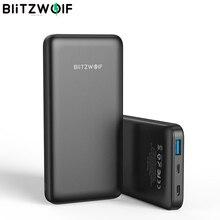 BlitzWolf BW P9 전원 은행 10000mA 18W QC3.0 Type C 포트 Powerbank 충전기 배터리 Externe iPhone 11 샤오미 용 고속 충전