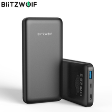 Blitzwolf BW P9 carregador power bank, carregador de bateria de 10000ma 18w qc3.0 tipo c para iphone 11 xiaomi xiaomi