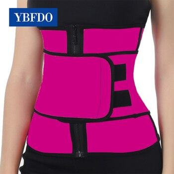 YBFDO 2020 New Waist Trainer Thermo Sweat Belt  Women Tummy Body Shaper Shapewear Fat Burning Fitness Modeling Strap
