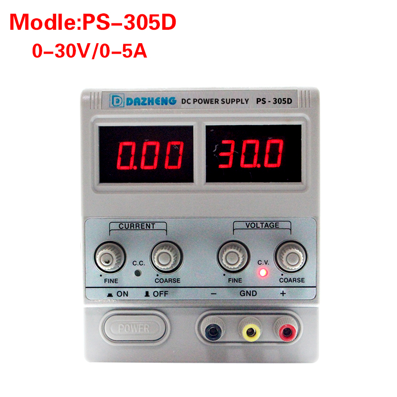 305d Bench Source Digital Adjustable Laboratory Switch Regulated <font><b>DC</b></font> Linear Power <font><b>Supply</b></font> Source 5a <font><b>30</b></font> <font><b>v</b></font> Voltage Regulator image