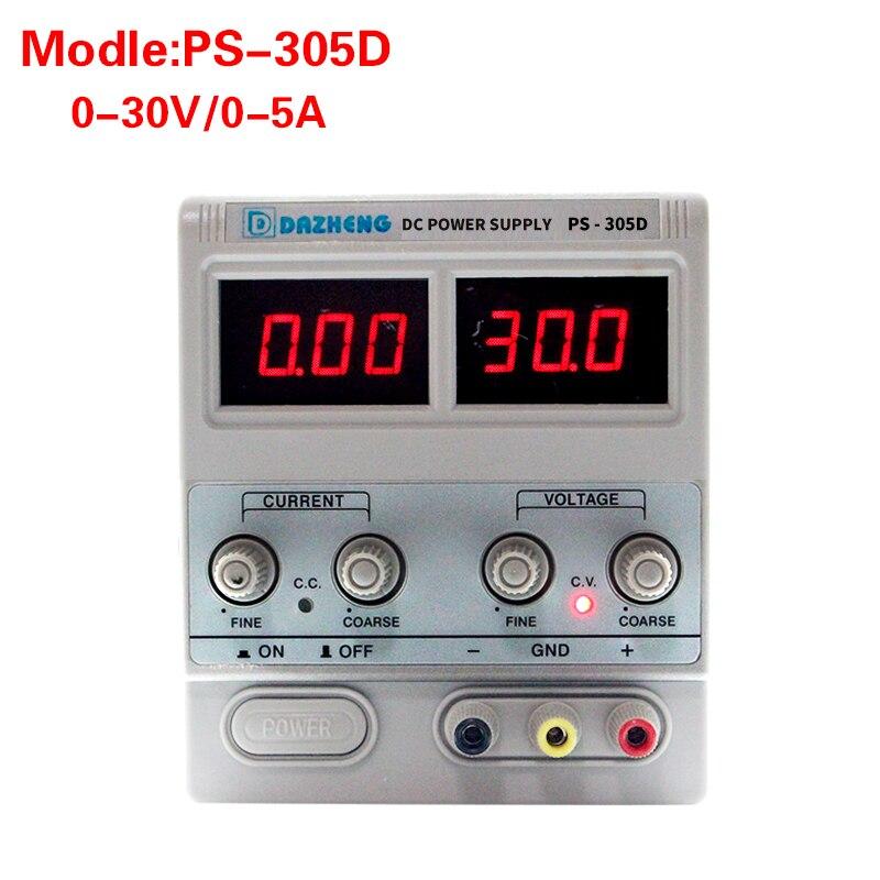 305d banc Source numérique réglable interrupteur de laboratoire régulé DC Source d'alimentation linéaire 5a 30 v régulateur de tension