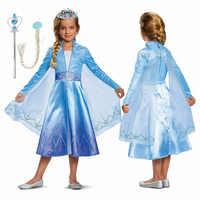 Vestido de manga longa elsa princesa traje meninas vestido de festa anna elza vestidos de halloween crianças cosplay traje crianças trem vestido