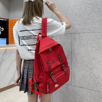 2020 4 unids/set mochila femenina de lona a la moda bonita nueva mochila escolar para mujer mochila para adolescentes mochila para chicas estudiantes universitarios
