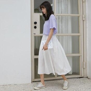 2020control The Crushed Degree Of Tightness Waist Pleated Skirt Long Fund Half-body Will Pendulum Favourite Fashion Chiffon 5