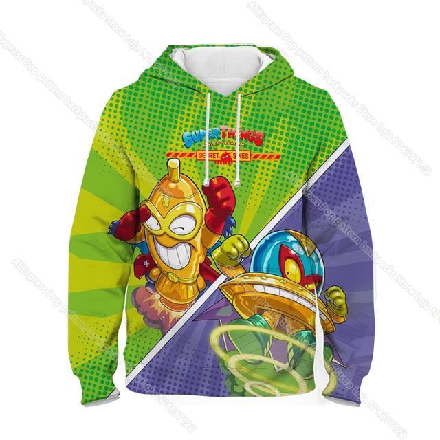 New Super Zings Series 6 Hoodies for Teens Girls Autumn Winter Kids 3D Cartoon Pullover Children Superzings Sweatshirt Boys Tops 5
