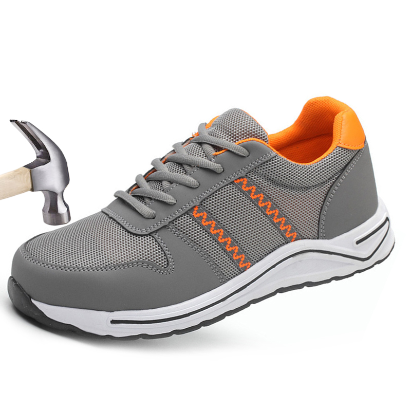 Men Safety Shoes Steel Toe Work Boots Woman Lightweight Breathable Mens Sneakers Casual Anti-smashing Construction Safty Shoe