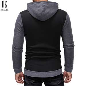 Image 5 - Manoswe Classic Colorblock Drawstring Design Mens Casual Hooded Sports Suit New Autumn & Winter Pockets Oversize 3XL Hoodie