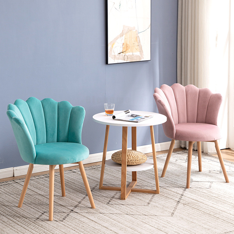 Nordic Livingroom Chairs Modern Salon Chair Dining Chair Household Makeup Vanity Chair Dresser Chairs Bedroom Chair Furniture Retail11