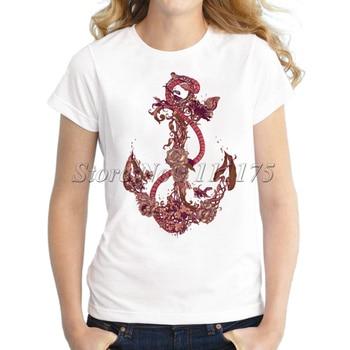 2020 Creative Snake and Flower Design T shirt Custom Printed boat-hook Short Sleeve Tees - discount item  45% OFF Tops & Tees