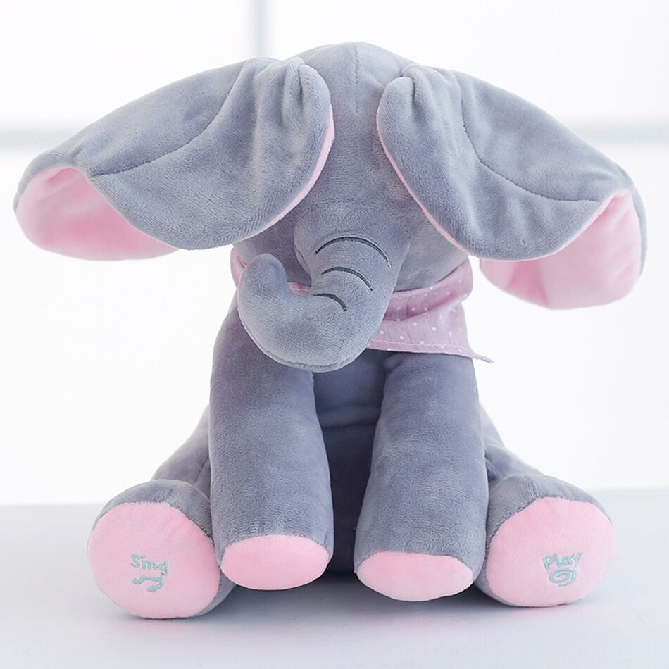 30cm Interactive UK Peek Soft Toy Doll Boo A Kids Birthday Gift Teddy Bear Plush