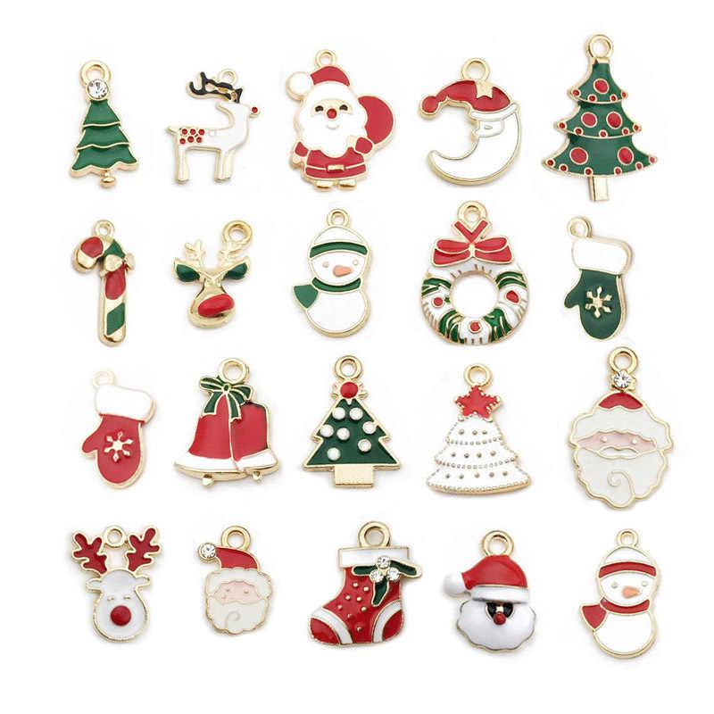 10 sztuk Drop Oil wisiorki boże narodzenie nowy rok Merry Charm wisiorki świąteczne tworzenia biżuterii robótki Diy biżuteria bożonarodzeniowa