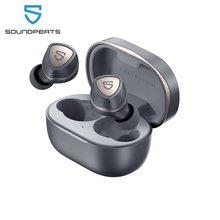 Soundpeats sonic bluetooth 5.2 fones de ouvido sem fio qcc3040 chipset aptx-cvc adaptável 8.0 redução de ruído fones de ouvido 45h tempo de jogo