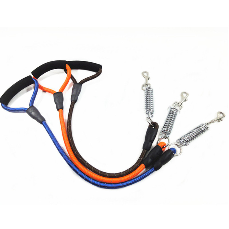 Pet Round Lanyard Reflective Dog Chain Proof Punch Hand Holding Rope Traction Belt Small And Medium-sized Dogs Pet Dog Lanyard