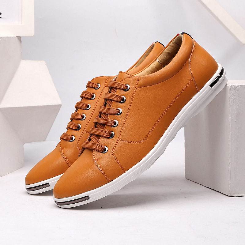 2019 Men Shoes Brand Hot Fashion Casual Shoes Men Pu Leather Comfortable Male Shoes Flat Men Sneakers Masculino Adul F3-01